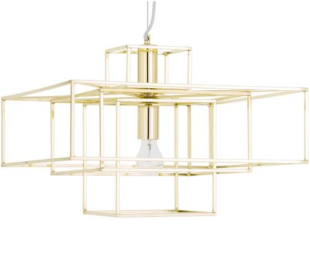 Pendelleuchte Cube in Gold
