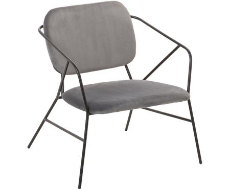 Fotel z aksamitu Klever