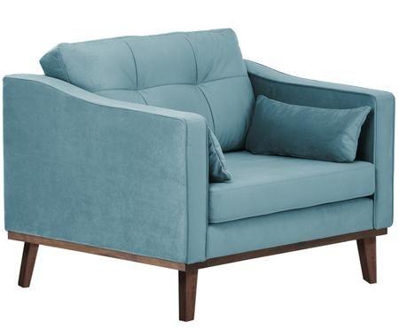 Fluwelen fauteuil Alva