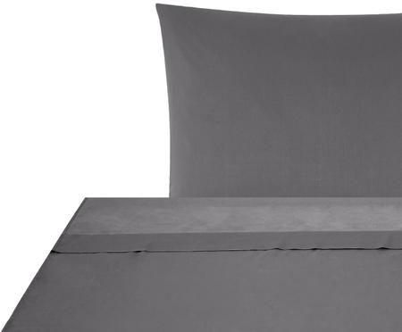 Set lenzuola in raso di cotone Comfort 2 pz
