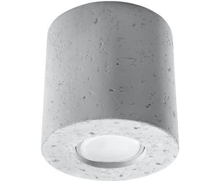 Stropná bodová lampa z betónu Roda