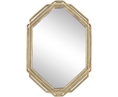 Specchio da parete con cornice dorata Raute