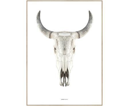 Gerahmter Digitaldruck Cow Skull