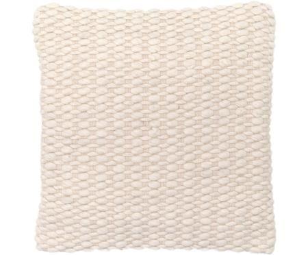 Kissenhülle Patricia aus Woll-Mix mit strukturierter Oberfläche