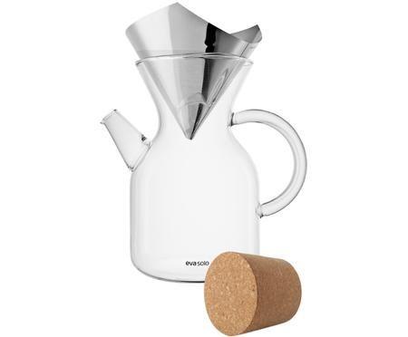 Kaffeezubereiter Vetro aus Glas mit Filter und Deckel