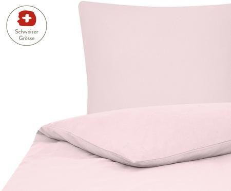 Flanell-Bettdeckenbezug Erica in Rosa