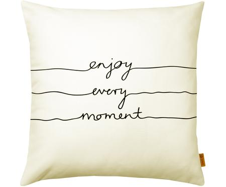 Federa Enjoy Every Moment con scritta in nero/bianco