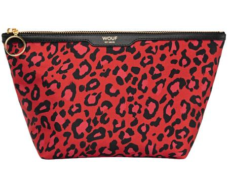 Make-up tas Red Leopard
