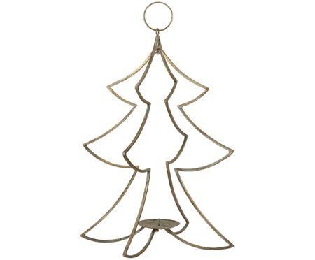 Candelabro natalizio dorato Glavia