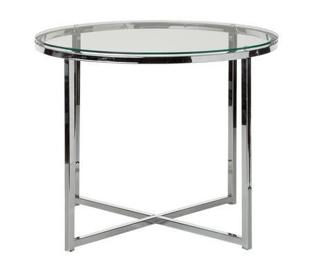 Tavolino con piano in vetro Matheo