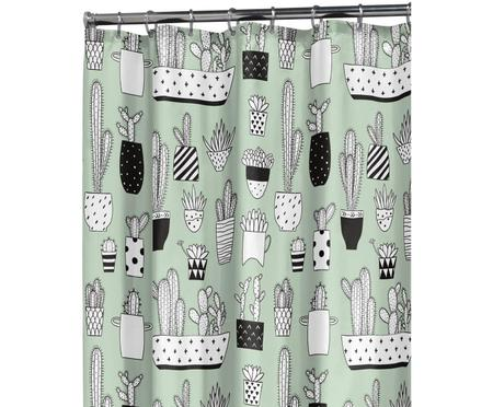 Tenda da doccia con stampa Cactus