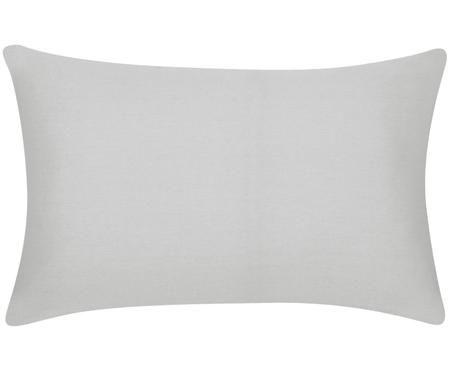 Housse de coussin en coton gris clair Mads