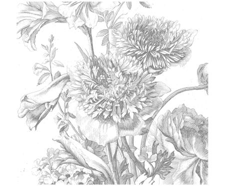 Carta da parati Engraved Flowers