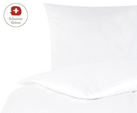 Baumwollsatin-Bettdeckenbezug Comfort in Weiss