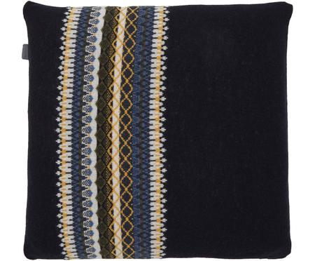 Housse de coussin en laine finement tricotée Trig