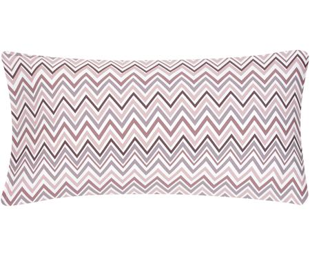 Baumwollsatin-Kissenbezüge Maui mit Zickzack-Muster, 2 Stück