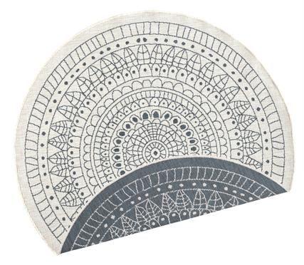 Alfombra redonda reversible de interior/exterior Porto