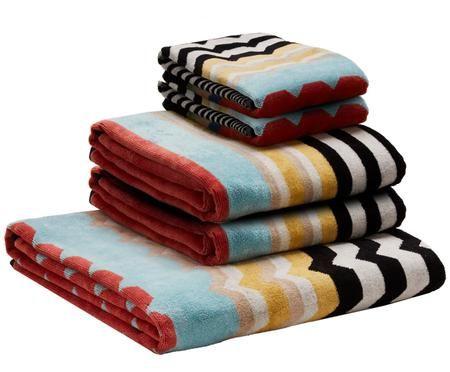 Set di 5 asciugamani Wolf