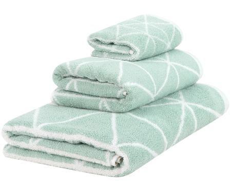 Dubbelzijdige handdoekenset Elina, 3-delig