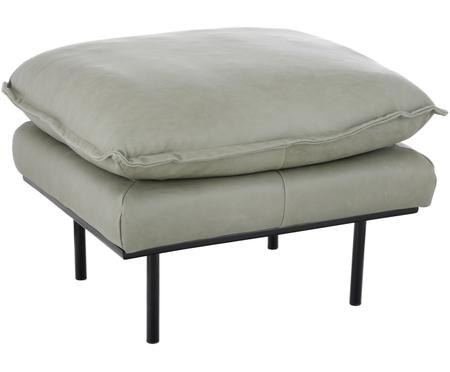 Sgabello da divano in pelle Retro