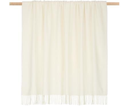 Plaid in lana leggero Patriciu con finitura a frange