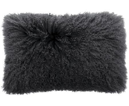 Poszewka na poduszkę ze skóry jagnięcej o długim włosiu Ella