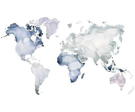 Fototapete Worldmap
