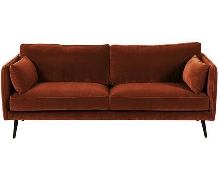 Sofa z aksamitu Paola (3-osobowa)