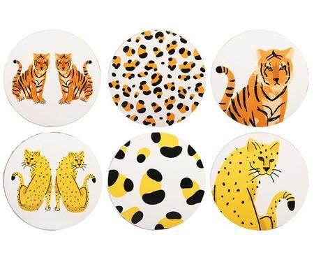Set sottobicchieri Leopard, 6 pz.