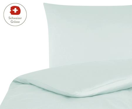 Baumwollsatin-Bettdeckenbezug Comfort in Hellgrün