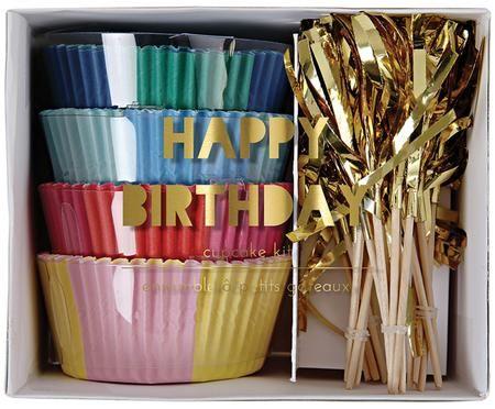 Accessoires à cupcakes Happy Birthday, 24 élém.