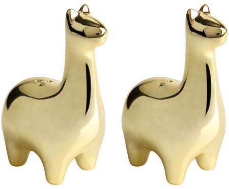 Zout- en peperstrooierset Lamas, 2-delig