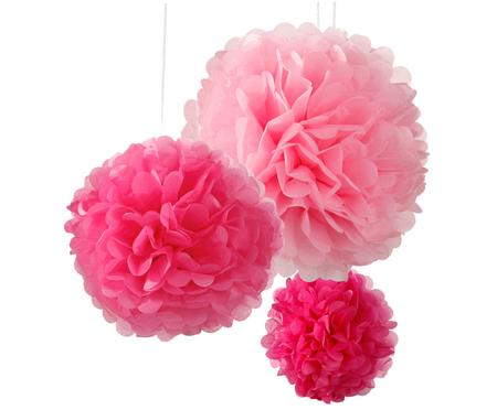 Set pompon Decadent, 3 pz.