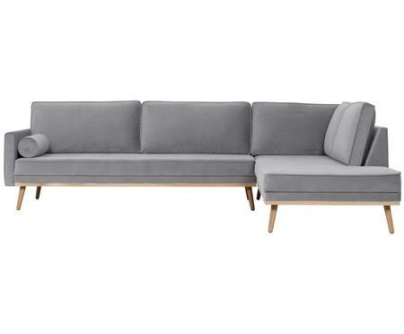 Canapé d'angle en velours Saint (4places)
