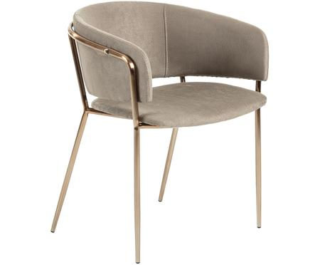 Fluwelen gestoffeerde stoel Runnie