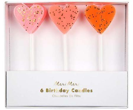 Bougies de gâteau Heart, 3 élém.