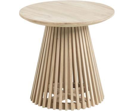 Tavolino rotondo in legno Jeanette