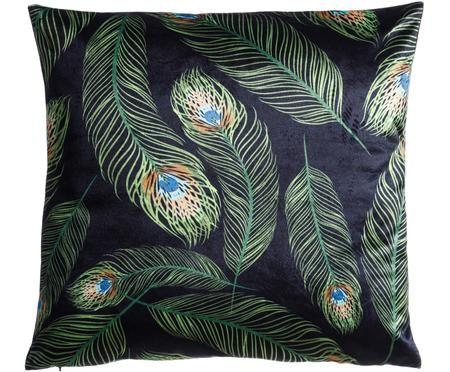 Dwustronna poduszka z aksamitu Escambia, z wypełnieniem