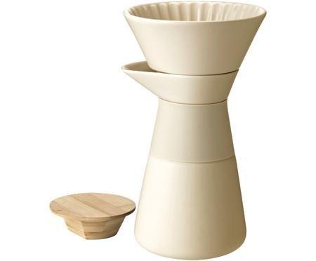 Kaffeezubereiter Theo in Weiß matt