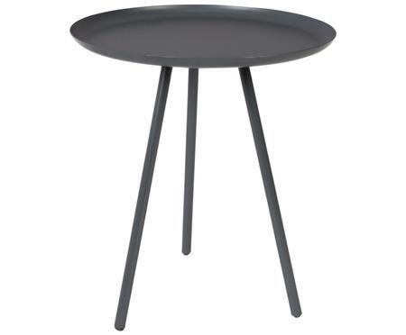 Table d'appoint en métal noir Frost