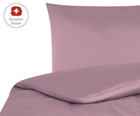 Baumwollsatin-Bettdeckenbezug Comfort in Mauve