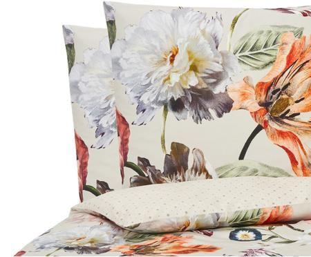 Baumwollsatin-Wendebettwäsche Filou mit Blumenmuster