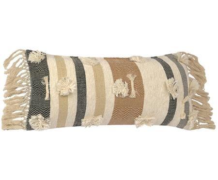 Dwustronna poszewka na poduszkę Colors z frędzlami