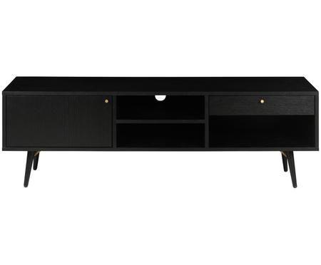 Černý TV stolek Verona