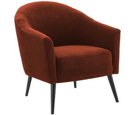 Fauteuil cocktail en velours Pascall
