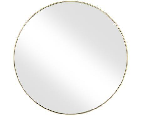 Specchio da parete rotondo con cornice dorata Ada