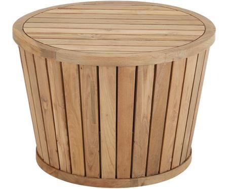 Mesa auxiliar de exterior de madera maciza Circus