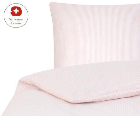 Renforcé-Bettdeckenbezug Ellie, fein gestreift
