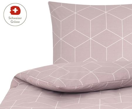 Renforcé-Bettdeckenbezug Lynn mit grafischem Muster