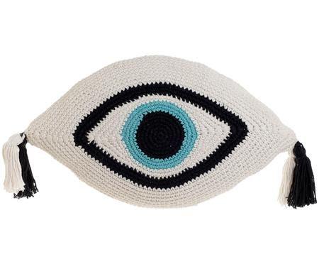 Gestricktes Formkissen Eye, mit Inlett